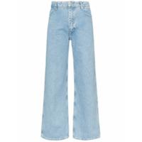 Eckhaus Latta Calça Jeans Cropped Reta - Azul