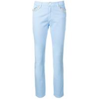 Blugirl Calça Jeans Com Aplicações - Azul