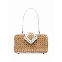 Mehry Mu White Fey In The 50S Rattan Box Bag - Branco