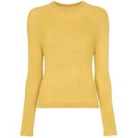 Carcel Crew Neck Alpaca Wool Sweater - Amarelo