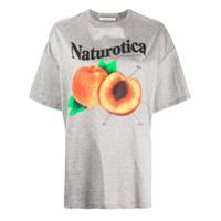 Christopher Kane Camiseta Com Estampa De Pêssego - Cinza