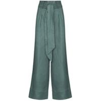 Bondi Born Calça Pantalona De Linho Fancy - Verde