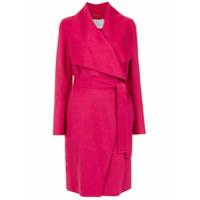 Boss Hugo Boss Trench Coat De Lã - Rosa