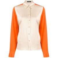 J.lindeberg Camisa Slim Color Block - Laranja