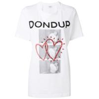 Dondup Camiseta Com Aplicação De Cristais - Branco