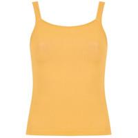 Egrey Blusa De Tricô Alças Finas - Amarelo
