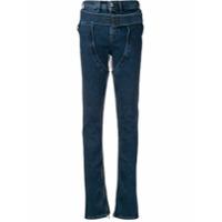Diesel Red Tag Calça Jeans Skinny Com Detalhe De Fivela - Azul
