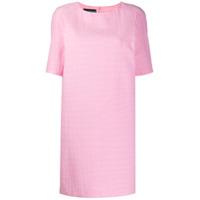 Boutique Moschino Vestido Com Efeito Pele De Crocodilo - Rosa