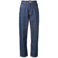 Haikure Cropped Boyfriend Jeans - Azul