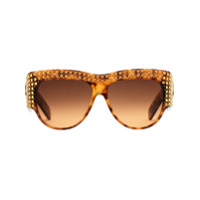 Gucci Eyewear Óculos De Sol Com Aplicações De Cristal - Marrom