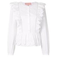 Bapy By *a Bathing Ape® Blusa Com Bordado E Abotoamento - Branco