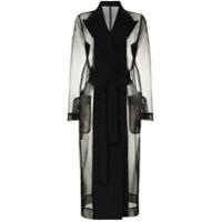 Dolce & Gabbana Trench Coat Translúcido - Preto