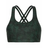 Nimble Activewear Top Esportivo Estampado - Verde