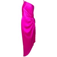 Michelle Mason Vestido De Festa Com Detalhe De Nó - Rosa