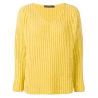 Incentive! Cashmere Suéter Gola V De Cashmere - Amarelo