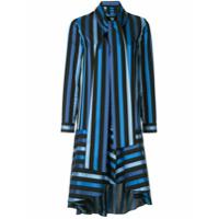 Osman Vestido Midi Listrado - Azul