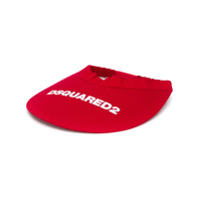 Dsquared2 Viseira Com Logo - Vermelho