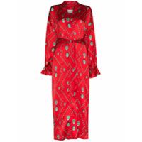 Kirin Kimono Mask Com Estampa - Vermelho
