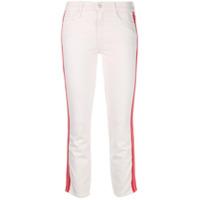 Mother Calça Jeans Cropped Cintura Média - Branco