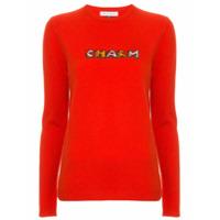 Bella Freud Suéter Com Estampa 'charm' - Vermelho