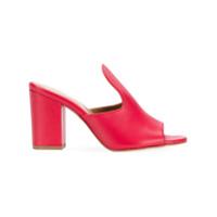 Paris Texas Sapato Mule - Vermelho