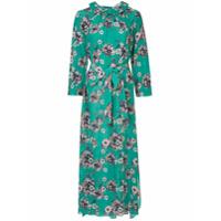 Teija Vestido De Seda Floral - Verde