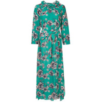 Teija Vestido De Seda Floral - Green