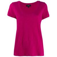 Theory Camiseta Decote Em U - Rosa