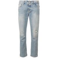 7 For All Mankind Calça Jeans Com Detalhes Puídos - Azul