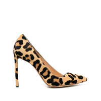 Francesco Russo Scarpin Com Estampa De Leopardo E Salto 100Mm - Neutro