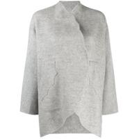 Tsumori Chisato Cardigan Oversized Com Abertura Frontal - Cinza