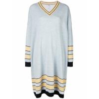 Loewe Vestido Suéter Listrado - Azul