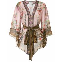 Camilla Kimono Com Aplicação No Ombro - Colorido