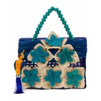 Mercedes Salazar Bolsa De Mão Floral - Azul