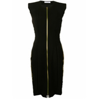 Versace Collection Vestido Slim Com Logo - Preto