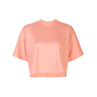 Rosetta Getty Camiseta Cropped Mangas Curtas - Rosa