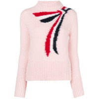 Thom Browne Suéter Com Padronagem De Cashmere - Rosa