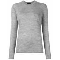 Alexander Wang Suéter Com Decote Careca - Cinza