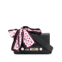 Love Moschino Logo Plaque Shoulder Bag - Preto