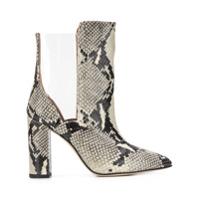 Paris Texas Ankle Boot Com Efeito De Pele De Cobra - Cinza