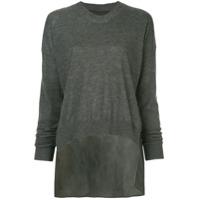 Uma Wang Suéter Mullet - Cinza