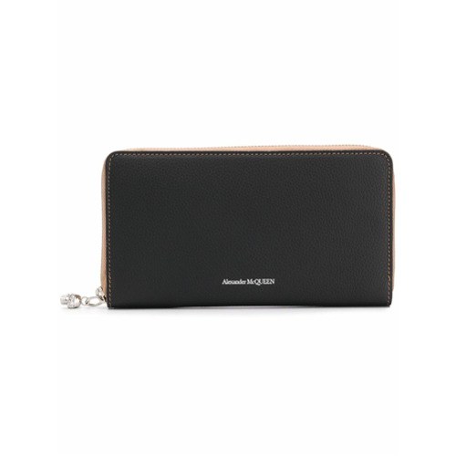 Imagem de Alexander McQueen all-around zip wallet - Preto