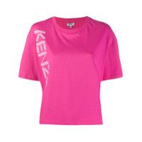 Kenzo Camiseta Com Estampa De Logo - Rosa