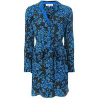Dvf Diane Von Furstenberg Chemise De Seda Estampada - Azul
