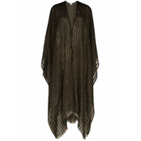 Saint Laurent Poncho Listrado - 107 - Metallic:1080