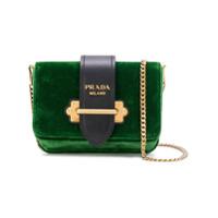 Prada Bolsa Tiracolo De Couro - Green