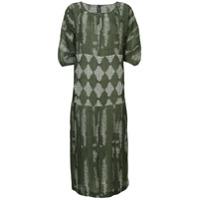 Zero + Maria Cornejo Vestido Com Padronagem Geométrica - Green