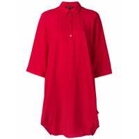 Armani Exchange Vestido Polo Oversized - Vermelho