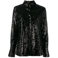 In The Mood For Love Coletta Sequin Shirt - Preto