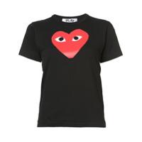 Comme Des Garçons Play Camiseta Com Estampa De Coração - Preto